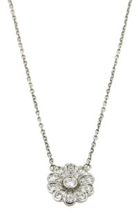 Tiffany & Co. Tiffany Co. Diamond Platinum Flower Pendant Necklace