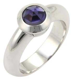 Tiffany & Co. Tiffany Co. Solitaire Faceted Amethyst Ring In 18k White Gold -