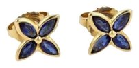 Tiffany & Co. Tiffany Co. Victoria Sapphire 18k Yellow Gold Floral Stud Earrings