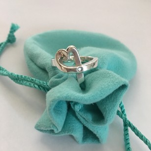 Tiffany & Co. Tiffany & Co. Paloma Picasso Silver Open Loving Heart Diamond Ring Size 6