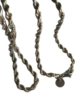 Tiffany & Co. Tiffany & Co Silver Twisted Rope Necklace 16