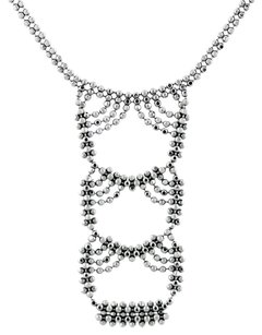 Tiffany & Co. Tiffany & Co. Woven Look Bead Chain Necklace 18K White Gold