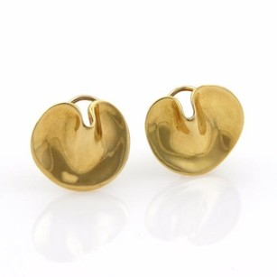 Tiffany & Co. Tiffany Co. 18k Yellow Gold Round Curved Post Earrings