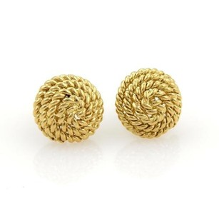 Tiffany & Co. Tiffany Co. 18k Yellow Gold Twisted Cable Wrap Dome Stud Earrings