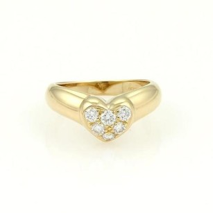 Tiffany & Co. Tiffany Co. 18k Yellow Pave Diamonds Heart Ring