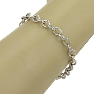 Tiffany & Co. Tiffany Co. 950 Platinum Oval Clasping Link Bracelet -7.25 Long