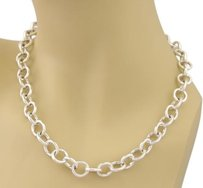 Tiffany & Co. Tiffany Co. All Round Clasping Link Necklace In Sterling Silver - 18
