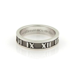 Tiffany & Co. Tiffany Co. Atlas 18k White Gold 4mm Wide Band Ring
