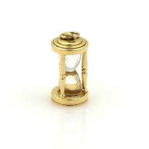 Tiffany & Co. Tiffany Co. Classic 18k Yellow Gold Hourglass Charm Pendant