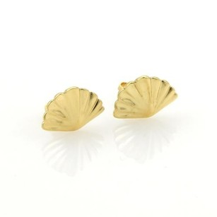 Tiffany & Co. Tiffany Co. Classic Shell Stud Earrings In 18k Yellow Gold