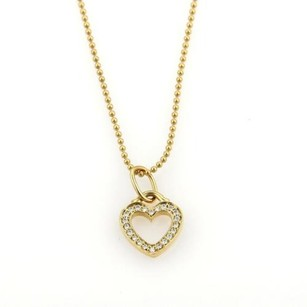 Tiffany & Co. Tiffany Co. Diamonds 18k Yellow Gold Heart Pendant Necklace