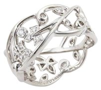 Tiffany & Co. Tiffany Co. Diamonds Platinum Open Band Floral Ring -