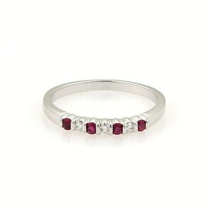 Tiffany & Co. Tiffany Co. Diamonds Rubies Platinum Band Ring