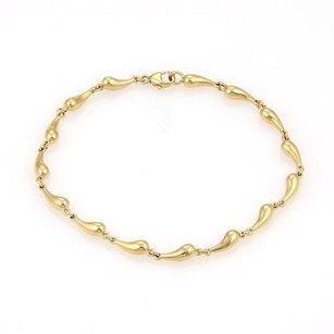 Tiffany & Co. Tiffany Co. Elsa Peretti 18k Yellow Gold Multi Tear Drop Bracelet