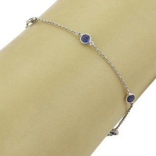 Tiffany & Co. Tiffany Co. Elsa Peretti Color By The Yard Platinum Blue Sapphire Bracelet