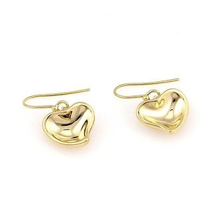 Tiffany & Co. Tiffany Co. Elsa Peretti Spain 18k Yellow Gold Curved Heart Drop Earrings