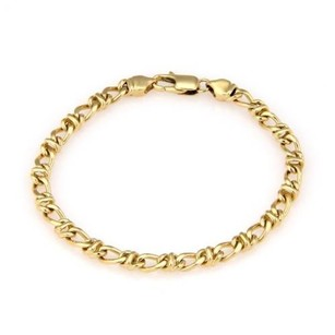Tiffany & Co. Tiffany Co. Italy 18k Yellow Gold Fancy Chain Link Bracelet - 7.25