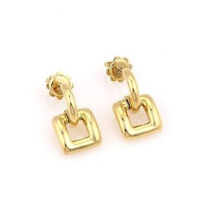 Tiffany & Co. Tiffany Co. Italy 18k Yellow Gold Square Dangle Stud Earrings