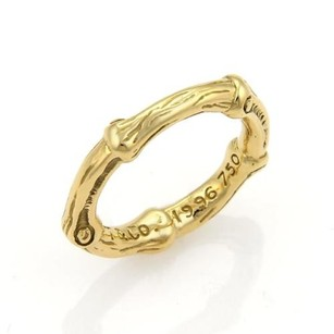 Tiffany & Co. Tiffany Co. Nature Bamboo 18k Yellow Gold Band Ring - 5.25
