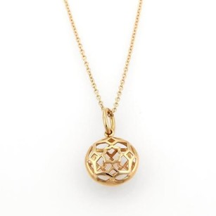 Tiffany & Co. Tiffany Co. Picasso Zellige Floral 18k Rose Gold Pendant Necklace