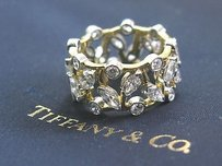 Tiffany & Co. Tiffany Co Platinum 18kt Schlumberger Vigne Diamond Ring 2.65ct