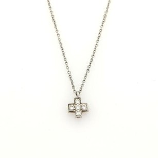 Tiffany & Co. Tiffany Co. Platinum Diamond Cruciform Cross Pendant Necklace