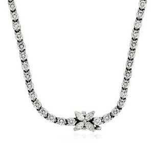 Tiffany & Co. Tiffany Co. Platinum Diamond Victoria Tennis Necklace