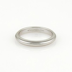 Tiffany & Co. Tiffany Co. Platinum Double Milgrain 3mm Dome Wedding Band Ring 6.75