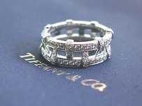 Tiffany & Co. Tiffany Co Platinum Weave Diamond Band Ring 1.40ct