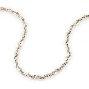 Tiffany & Co. Tiffany Co. Sterling Silver 18k Yellow Gold 3mm Rope Chain Necklace 17 34