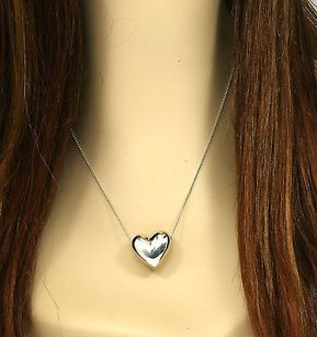 Tiffany & Co. Tiffany Co. Sterling Silver Ladies Heart Pendant Chain 18.25