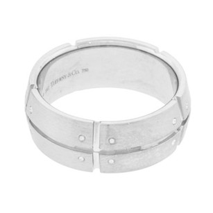 Tiffany Co. Streamerica 2002 18k White Gold Wide Mens Ring