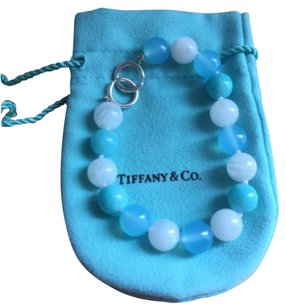 Tiffany & Co. NEW Tiffany Picasso Silver Clasp Amazonite Moonstone Gemstone Bead Bracelet
