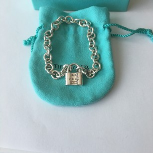 Tiffany & Co. Tiffany Sliver 1837 Lock (Opens and Closes) Link Bracelet BOX POUCH!!