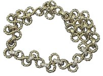 Tiffany & Co. Tiffany,Co,18kt,Diamond,Yellow,Gold,Twist,Necklace,Nautique,Collection,1.40ct