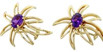 Tiffany & Co. Tiffany & Co. Solid 18k Gold Amethyst Fireworks Clip On Earrings