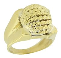 Tiffany & Co. Vintage Tiffany & Co. 18k Solid Yellow Gold Domed Ring Art Deco Size 5.75 HEAVY