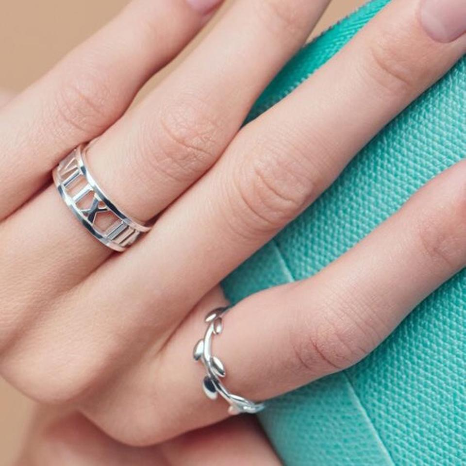 Tiffany & Co. White Gold Atlas Ring - Tradesy