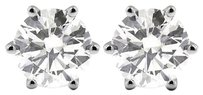 Tiffany Jones Designs 3.98ct Tw F-si2 Exc Round Natural Diamonds 14k 6-prong Solitaire Earrings 1.96gr