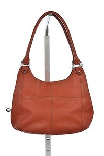 Tignanello Womens Textured Leather Handbags Satchel in Orange