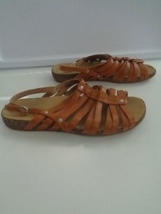 Timberland Earthkeepers Camel Leather Casual Strappy B2895 Brown Sandals