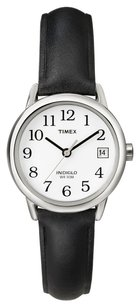 Timex Timex Women's T2H331 Easy Reader Black Leather Strap Watch