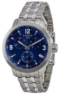 Tissot PRC 200 Chronograph Blue Dial Stainless Steel Men's Watch
