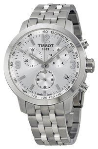 Tissot PRC 200 Chronograph Silver Dial Stainless Steel Men's Watch