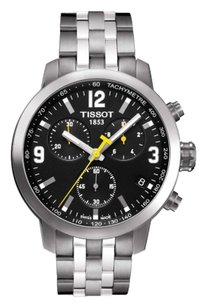 Tissot Tissot PRC 200 Chronograph Black Dial Stainless Steel Mens Watch T0554171105700