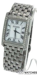 TNA Wittnauer 10a00 Biltmore Stainless Steel Diamond Watch