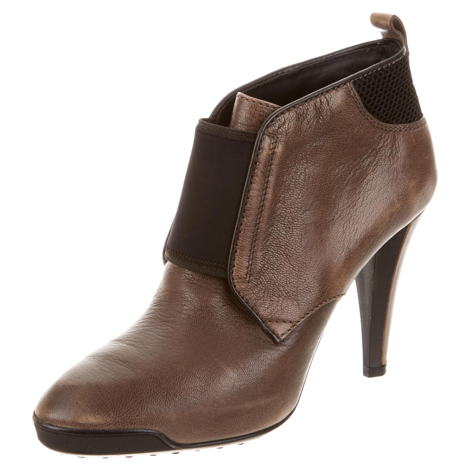 discount big discount discount shopping online Tod's Leather Round-Toe Boots get authentic cheap price low price fee shipping sale online outlet 2014 AlEqEKsLMr