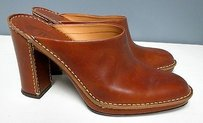 Tod's Tods Leather Slip On Brown Mules