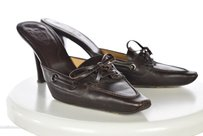 Tod's Tods Womens Solid Brown Mules