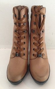 Tod's New Leather Lace Up Heels Ankle K Brown Boots